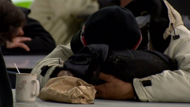 Homeless people fill the Boyle Street Community Centre Wednesday as temperatures drop to the minus 20s. Agencies fear more homeless people are living on Edmonton streets.