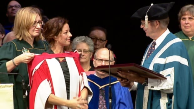 Canadian icon Sarah McLachlan was in Edmonton Wednesday to receive an honorary doctor-of-laws degree for her philanthropic and musical work over the past quarter century.