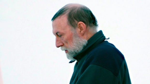 Former Catholic priest Eric Dejaeger leaves an Iqaluit courtroom in 2011. Lawyers for the Crown and defence will make their arguments as to what sentence Dejaeger should serve, after his conviction on 32 charges of sex crimes, mostly against children.