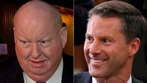 Mike Duffy and Nigel Wright