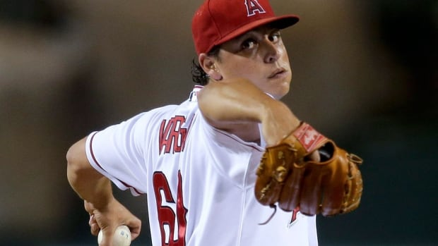 Starting pitcher Jason Vargas, who won nine games with a 4.02 ERA for the Angels in 2013, is expected to solidify the back end of the Royals rotation next season.