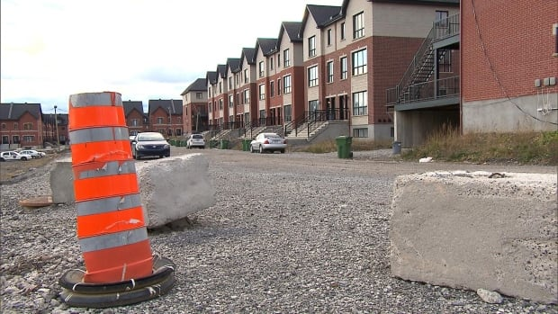 Families have been waiting two years for the road to be paved in front of their homes in the Bois Des Caryers development in LaSalle.