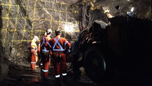 Workers in a mine shaft in Thompson, Man. The Canada Labour Code covers about 1.5 million federal employees in sectors such as railways, shipping, pipelines and mining.
