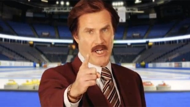 Will Ferrell, as Ron Burgundy, will bring some colour to the Roar of the Rings Olympic curling qualifier in Winnipeg.