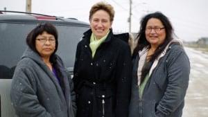 Felicia Sagutch, Ann Waswa and Nancy Keeskitay