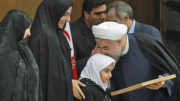 Reaction to the nuclear deal in Iran has been well orchestrated. Small groups of cheering students welcomed negotiators back from Geneva on Sunday, while at a press briefing President Hassan Rouhani kissed the head of the daughter of nuclear scientist Darioush Rezaeinejad who was assassinated in July 2011, presumably by foreign agents.