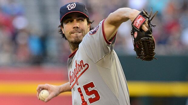 Dan Haren will compete for a prominent spot in Los Angeles' loaded rotation alongside Clayton Kershaw, Zack Greinke and Hyun-Jin Ryu.