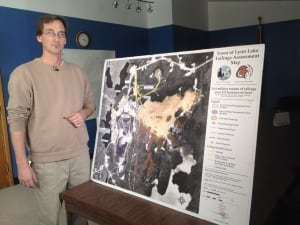 James Lindsay with tailings map