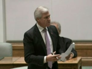 Dwight Ball in house of assembly on November 25 2013