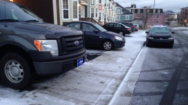 Some people on Margaret's Place, in the centre of St. John's, have been forced to partially park on the sidewalk, which can lead to an expensive ticket.