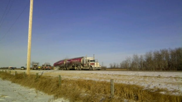 A fuel tanker fire broke out near Souris on Tuesday.