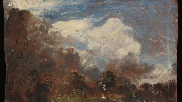 The Victoria and Albert Museum says it has discovered a previously unknown oil sketch by John Constable tucked beneath the lining of another work by the English romantic painter known for his landscapes.