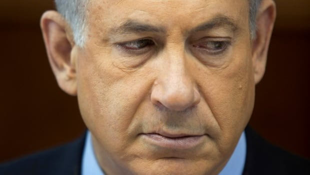 Israel's Prime Minister Benjamin Netanyahu attends the weekly cabinet meeting in Jerusalem on Nov. 24, 2013. Netanyahu on Sunday denounced the world powers' nuclear agreement with Iran as a historic mistake that left the production of atomic weapons within Tehran's reach.