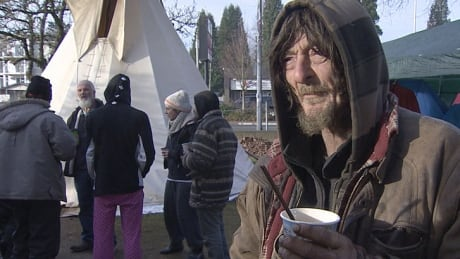 Homeless protest camp in Abbotsford, B.C.