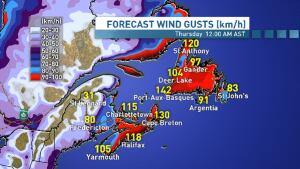 Wind gusts Nov. 27