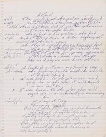 Springsteen Manuscript