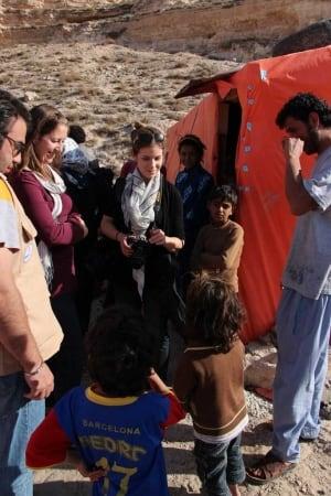 Amanda Thorsteinsson at refugee settlement