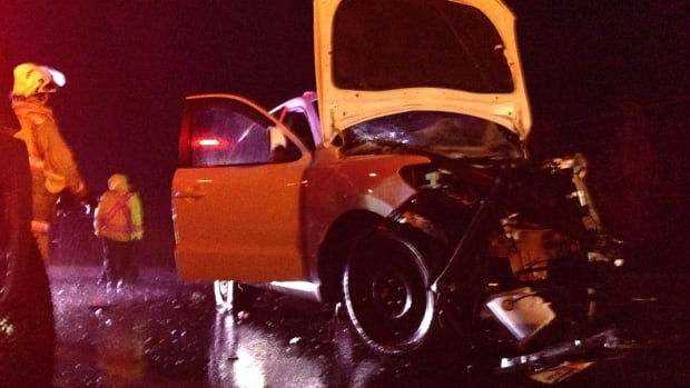 Nova Scotia RCMP say a man has died in a collision between a minivan and an SUV on Highway 103.