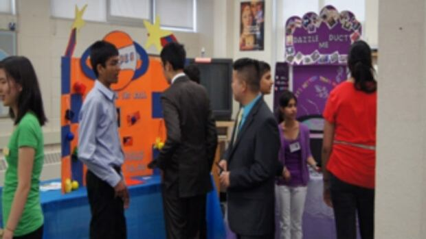 Allan A. Martin senior public school hosts a trade show each year, where students from its international business and technology program sell their newly created products.