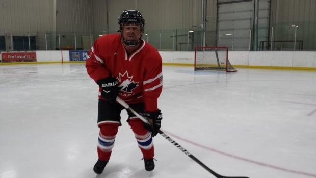 Bernie Bennett, 52, takes to the ice at the Multiplex tonight to play with the Montreal Canadiens alumni team against a team made up of Yellowknife Mounties and firefighters in front of a sold-out crowd.