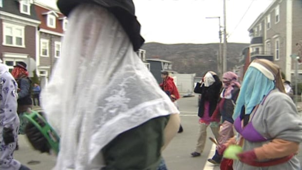 These mummers took part in the Mummers Parade in St. John's in December 2012.