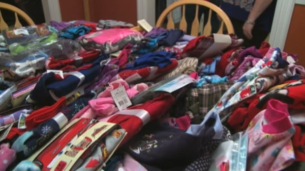 These are some of the hundreds of pairs of pyjamas Melinda Wiseman-Myers has collected for needy children in western Labrador.