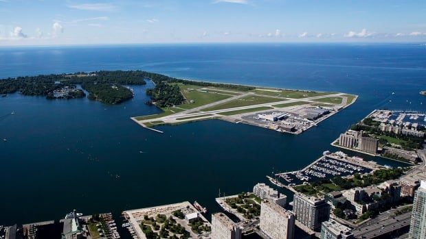 Toronto's Port Authority is seeking up to $100 million in federal money to pay for infrastructure improvements at the Billy Bishop Toronto City Airport.