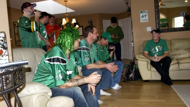 Mark Metanczuk couldn't use his tickets to Grey Cup in Regina, so he threw a big party at his home in Nanaimo.