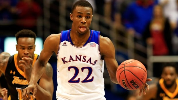 Vaughn, Ont. native Andrew Wiggins, who plays for the Kansas Jayhawks, is one of the brightest prospects in this year's NCAA tournament.