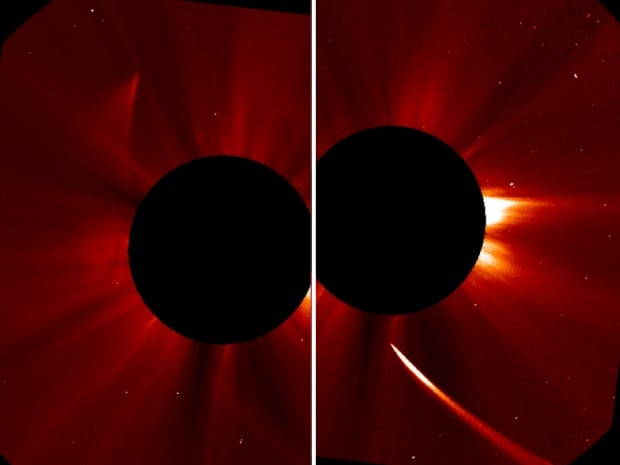 SOHO ISON coming going