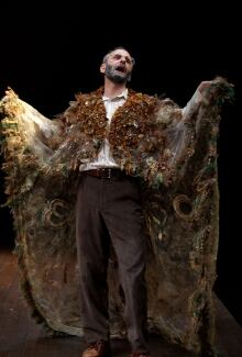 Alon Nashman sporting a cape in Hirsch