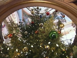 Christmas tree - B.C. legislature rotunda
