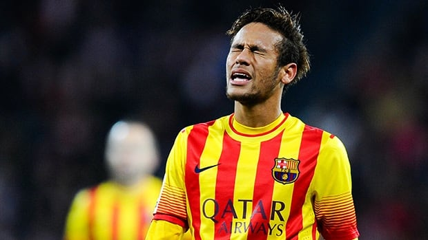 Neymar of FC Barcelona during the match against Athletic Bilbao on December 1, 2013 in Bilbao, Spain.