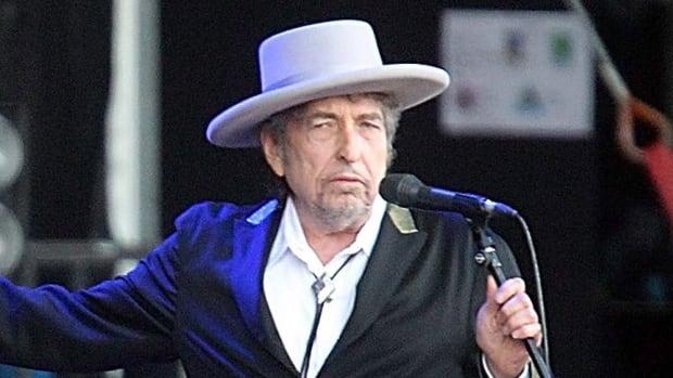 U.S. singer-songwriter Bob Dylan is seen performing at Les Vieilles Charrues Festival in Carhaix, western France in 2012.