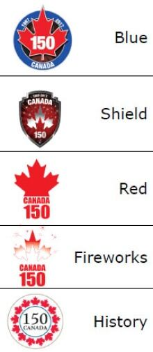 150th anniversary proposed logos
