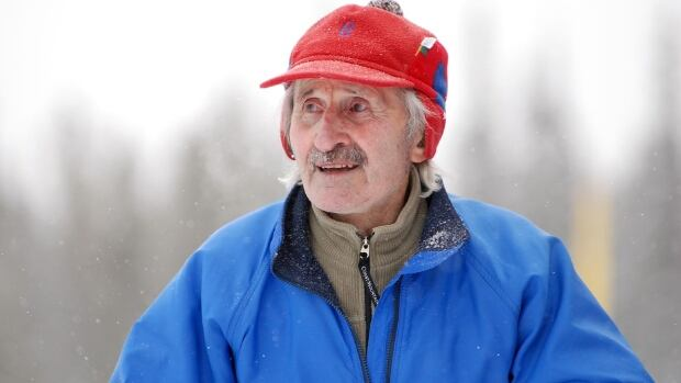 Father Jean-Marie Mouchet, pictured here during the Canada Winter Games in Whitehorse in 2007, was a dedicated cross country skier and coach.