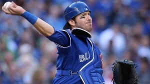 Blue Jays general manager Alex Anthopoulos predicts catcher J.P. Arencibia would improve in 2014. The team non-tendered Arencibia on Monday, making him a free agent.
