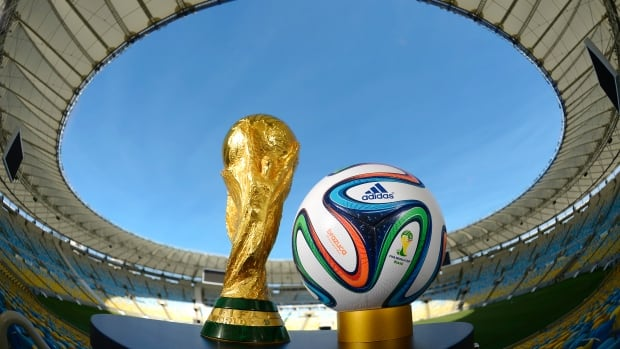 A general view of Brazuca and the FIFA World Cup Trophy at the Maracana before the adidas Brazuca launch at Parque Lage on Tuesday in Rio de Janeiro, Brazil. Brazuca is the Official Match Ball for the FIFA World Cup 2014 Brazil.