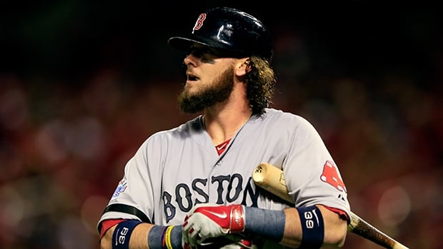 Jarrod Saltalamacchia had 15 homers, 40 doubles and 65 RBIs last season for the World Series champions Boston Red Sox.