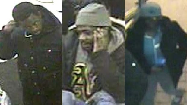 Toronto police have released images of three suspects in the killing of Neeko Mitchell. The three images above show the suspects that police revealed at a news conference on Wednesday.
