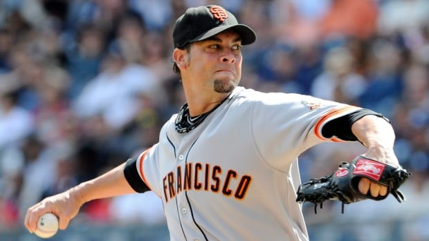 San Francisco Giants pitcher Ryan Vogelsong went 4-6 with a 5.73 ERA in 19 starts and 103 2-3 innings during an injury-shortened season.
