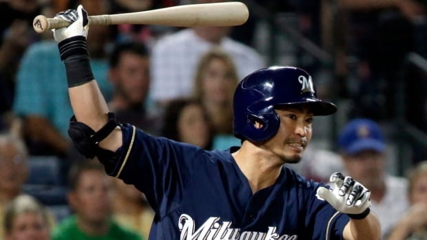 Former Brewers outfielder Norichika Aoki would become the first Japanese-born position player to suit up for the Royals. He was traded Thursday for pitcher Will Smith.