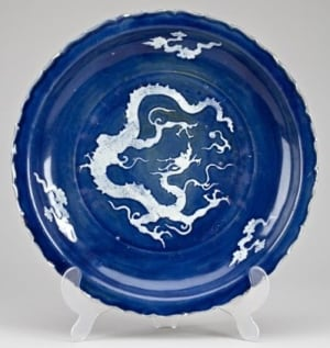 Chinese charger plate rare old Ottawa auction sold valuable