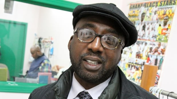"""Albert Kittoe, a Ghanian now living in Oakville, was visiting his friend's Hamilton shop when he heard the news of Nelson Mandela's passing. Mandela """"had a heart of gold,"""" Kittoe said."""