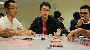Poker students