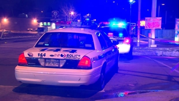 Police say a suspect tried to hit a patrol car and then run over a police officer early this morning in Laval.