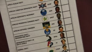 South African ballot