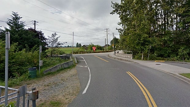 The man was found dead in a car in a ditch on River Road near the intersection of 60th Avenue in Delta, B.C.