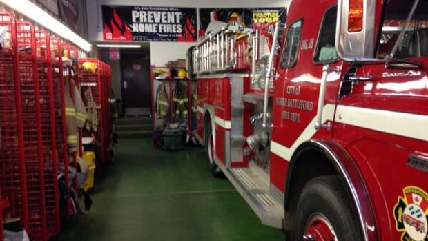 Inside the North Battleford fire station.