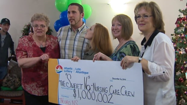 Some of the 'Sweet 16' lottery winners enjoy their big pay day.